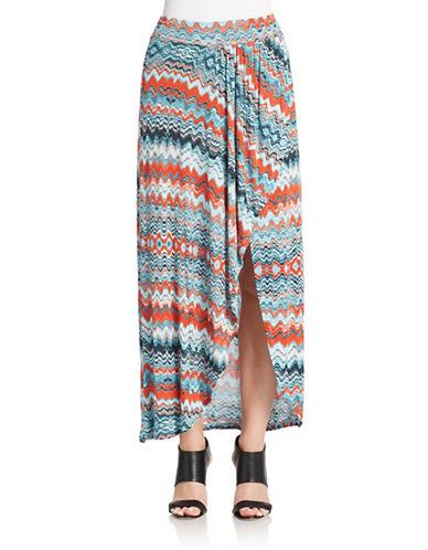 KENSIEDrippy Stripes Maxi Skirt