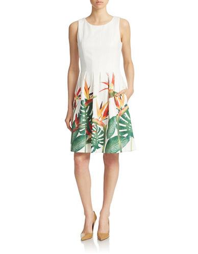 IVANKA TRUMPTropical Print A-Line Dress