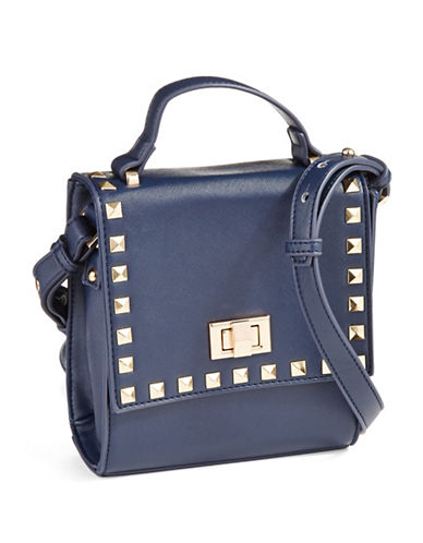 KENSIE Pyramid Stud Accented Crossbody Bag