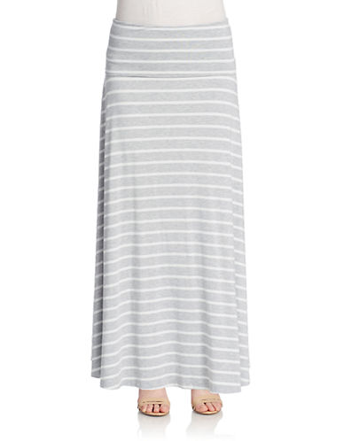 LORD & TAYLORStriped Fold-Over Maxi Skirt