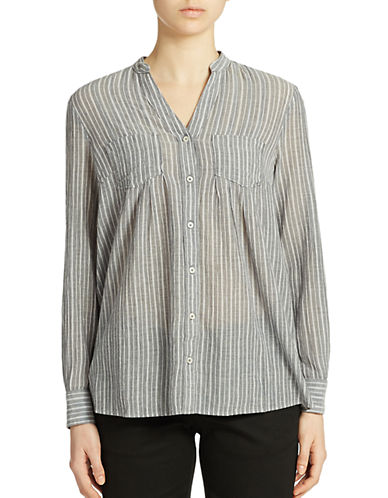 LORD & TAYLOR Striped Cotton Shirt