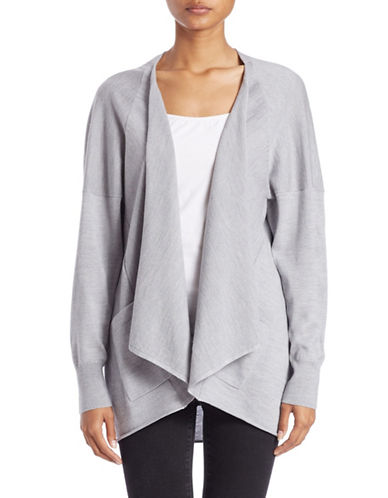 LORD & TAYLOR Long-Sleeve Open-Front Cardigan