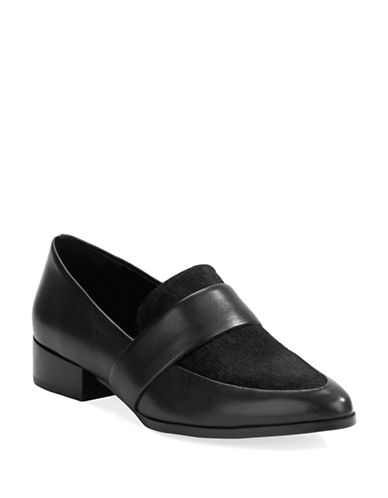 424 FIFTHValentina Leather and Calf Hair Loafers