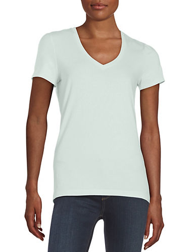 lord taylor female 201920 petite cotton blend vneck tee