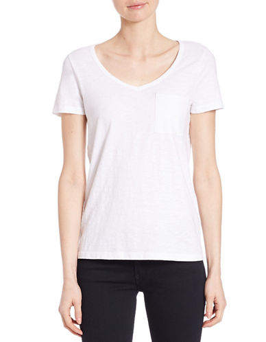 lord taylor female 45883 petite solid vneck tee