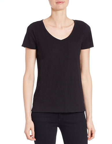lord taylor female 188971 petite solid vneck tee