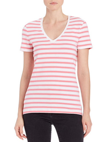 lord taylor female 243279 plus striped vneck tee