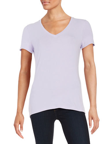 lord taylor female 123990 plus solid vneck tee