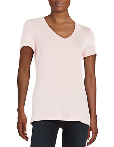 lord taylor female 243279 petite solid vneck tee