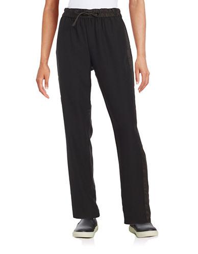h halston female 188971 elastic waist tuxedo pants