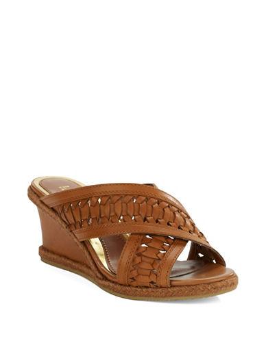 LAUREN RALPH LAURENGiana Leather Wedge Sandals