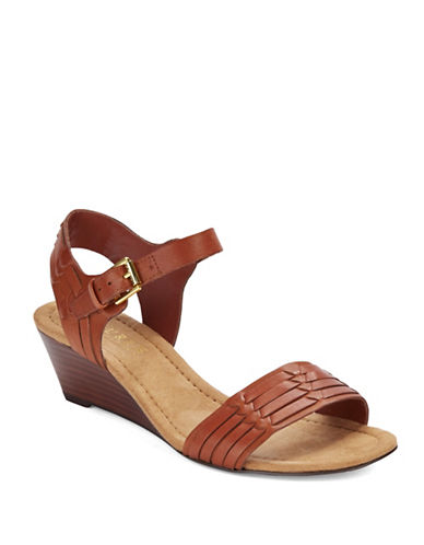LAUREN RALPH LAUREN Latrice Leather Wedge Sandals