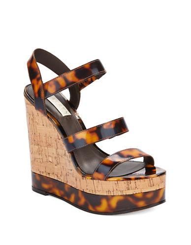 LAUREN RALPH LAURENTeressa Patent Leather Slingback Platform Sandals