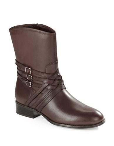 Buy Maya Leather Ankle Boots by Lauren Ralph Lauren online