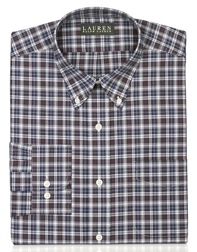 LAUREN RALPH LAUREN Classic Fit Checked Dress Shirt