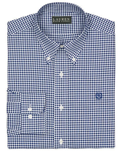 LAUREN RALPH LAUREN Classic-Fit Crest Checked Dress Shirt