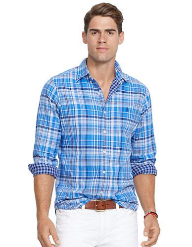 POLO RALPH LAURENDouble-Faced Plaid Oxford Shirt