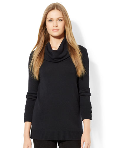 LAUREN RALPH LAUREN Wool Blend Cowlneck Sweater