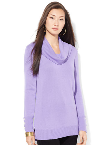 LAUREN RALPH LAUREN Wool-Blend Cowlneck Sweater