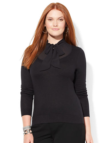 Lauren Ralph Lauren Plus Self Tie Sweater