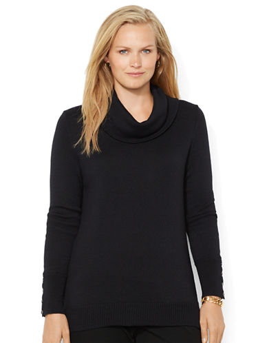 LAUREN RALPH LAUREN Plus Wool Blend Cowlneck Sweater
