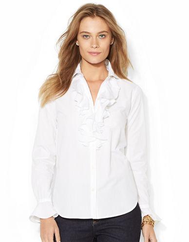 LAUREN RALPH LAURENRuffled Cotton Shirt