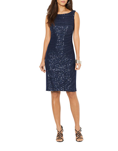 Lauren Ralph Lauren Ruched Sequined Dress