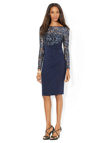 LAUREN RALPH LAUREN Lace Combo Dress