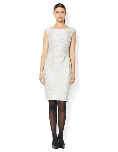 Shop Lauren Ralph Lauren online and buy Lauren Ralph Lauren Petite Sleeveless Sheath dress online