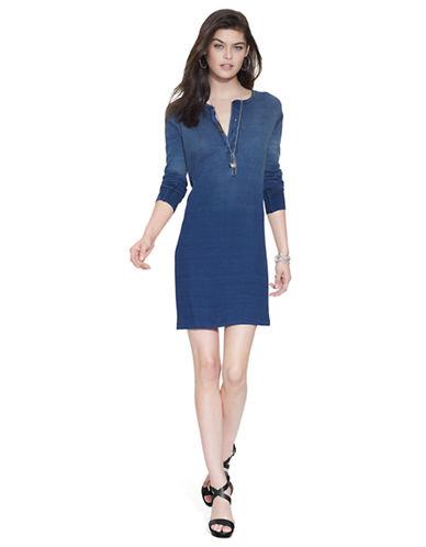 Shop Polo Ralph Lauren online and buy Polo Ralph Lauren Henley Shirtdress dress online