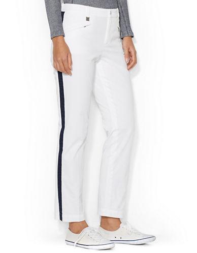 LAUREN RALPH LAURENContrast-Stripe Cropped Pant