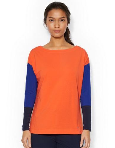LAUREN RALPH LAURENColor-Blocked Stretch-Cotton Shirt