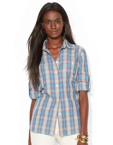 LAUREN RALPH LAURENPlaid Button-Down Shirt