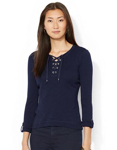 LAUREN RALPH LAURENLace-Up Cotton Shirt