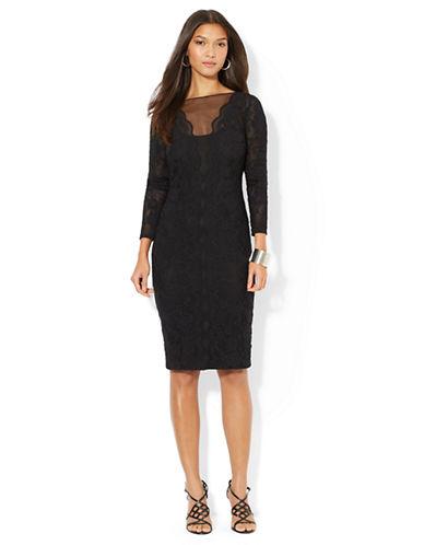 LAUREN RALPH LAURENLace Bateau-Neck Dress