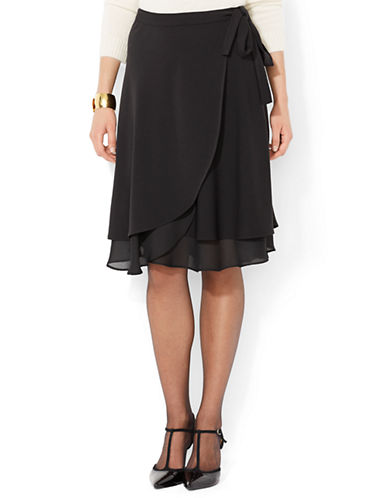 LAUREN RALPH LAURENFaux Wrap Ruffled Skirt