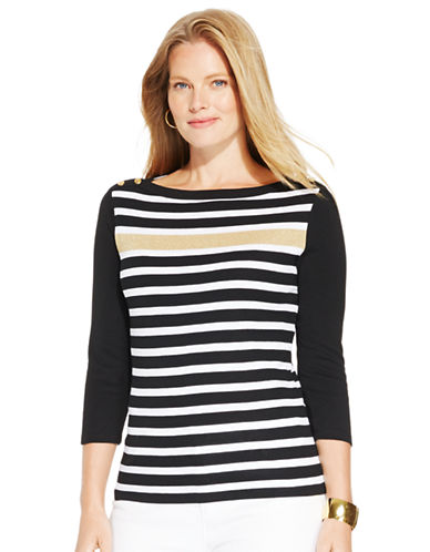 Lauren Ralph Lauren Plus Boatneck Top