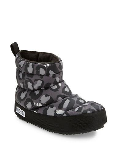 marc jacobs female macdougal leopardprint nylon platform booties