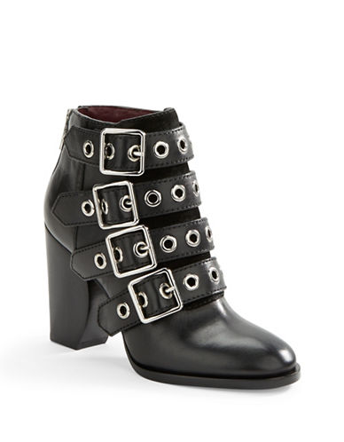 Buy Marnie Buckled Leather Ankle Boots by Marc By Marc Jacobs online