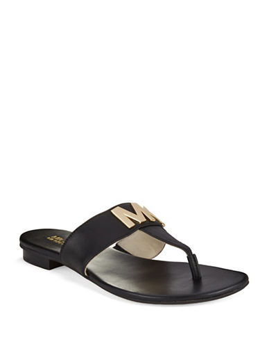 MICHAEL MICHAEL KORS Leather Thong Sandals