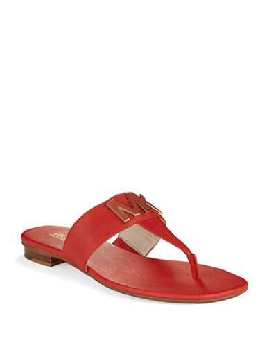 MICHAEL MICHAEL KORS Hayley Leather Thong Sandals