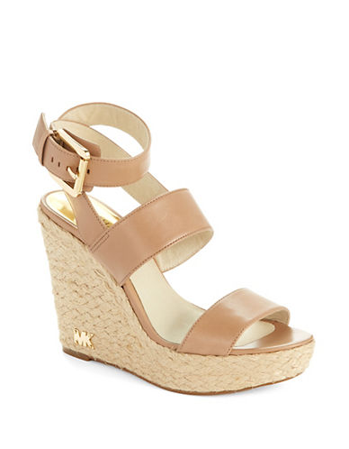 MICHAEL MICHAEL KORS Poesy Ankle Strap Wedges