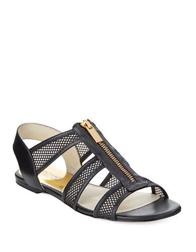 Shop Michael Michael Kors online and buy Michael Michael Kors Berkley Leather and Mesh Sandals shoes online