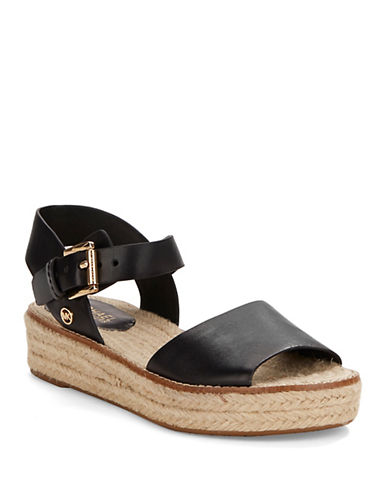 MICHAEL MICHAEL KORSLilah Leather Platform Sandals