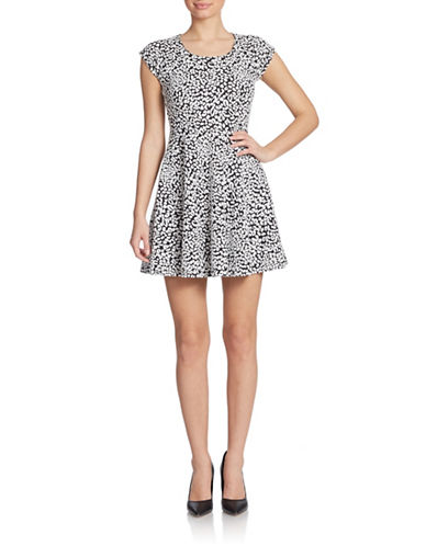Shop Guess online and buy Guess Leopard-Print Fit-and-Flare Dress dress online