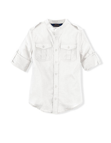 RALPH LAUREN CHILDRENSWEARGirls 7-16 Cotton Gauze Shirt