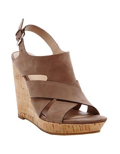 DOLCE VITATawnie Leather Slingback Wedge Sandals