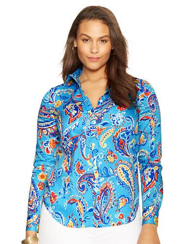 LAUREN RALPH LAURENPlus Paisley-Print Cotton Sateen Shirt