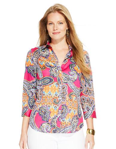 LAUREN RALPH LAURENPlus Paisley-Print Cotton Shirt