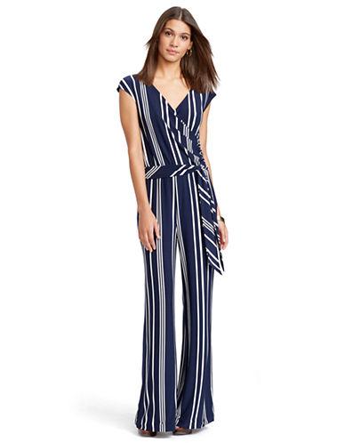 2094160a1669 ... UPC 889041131160 product image for Lauren Ralph Lauren Petite Striped  V-Neck Belted Jumpsuit ...